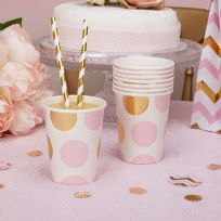 Pattern Works Pink Dot Cups (8)